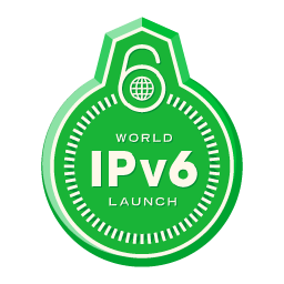 Bestand:World IPv6 launch badge 256.png